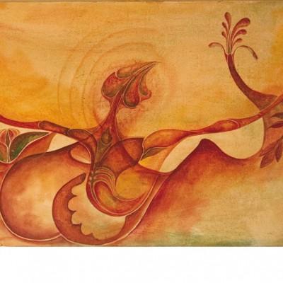 ADAPTACIÓN. Ibiza 2004. 50x100cm. Acrílico sobre lienzo de pasta. Acrylic on textured canvas.