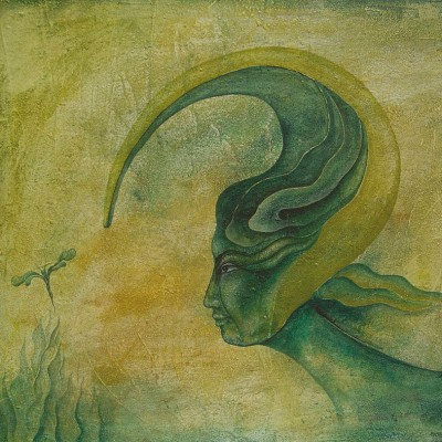 ATENCIÓN  Ibiza 2004. 65x81cm. Acrílico sobre lienzo de pasta. Acrylic on textured canvas.