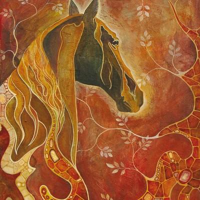 EL CABALLO. Ibiza 2006  Acrílico sobre lienzo de pasta. Acrylic on textured canvas.