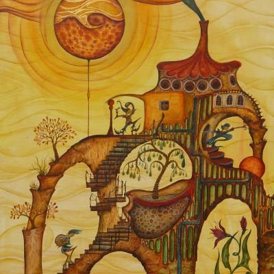 CIUDADELA. Ibiza 2011. 61x41cm. Acrílico sobre madera/Acrylic on wood.