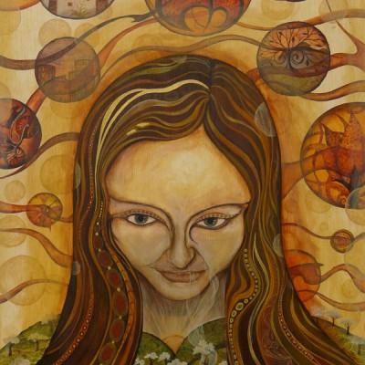 CONEXIÓN DE IDEAS. Ibiza 2011. 64x54cm Acrílico sobre madera/Acrylic on wood.