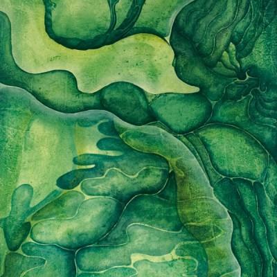 CRISTINA NADA CON PÁJAROS. Ibiza 2004. 65x100cm. Acrílico sobre lienzo de pasta. Acrylic on textured canvas.
