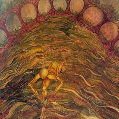 EL SILENCIO DE LOS OCHO ÁRBOLES. Ibiza 2004. 81x100cm. Acrílico sobre lienzo de pasta. Acrylic on textured canvas.