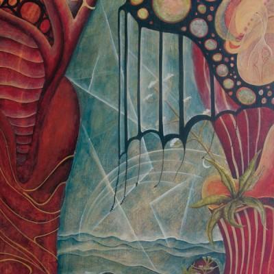 EL VACÍO. Ibiza 2009. 40x28cm. Acrílico sobre madera. Acrylic on wood.