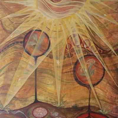 LA LUZ. Ibiza 2009. 28x40cm.  Acrílico sobre madera. Acrylic on wood.