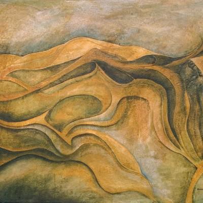 LA MUERTE. Ibiza 2004. 65x81cm. Acrílico sobre lienzo de pasta. Acrylic on textured canvas.