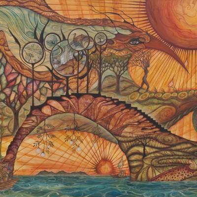 EL MENSAJE / THE MESSAGE. Ibiza 2011. 123x80cm. Acrílico sobre madera/Acrylic on wood.