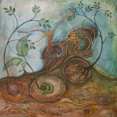 PACIENCIA  Ibiza 2006 60x60cm Acrílico sobre lienzo de pasta. Acrylic on textured canvas.