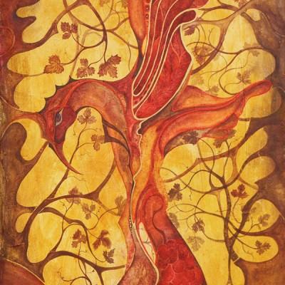 PÁJARO DEL VINO Ibiza 2006 45x60cm Acrílico sobre lienzo de pasta. Acrylic on textured canvas.