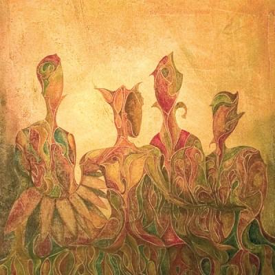 QUATRE. Ibiza 2005  50x60cm. Acrílico sobre lienzo de pasta. Acrylic on textured canvas.