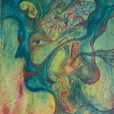 REMORDIMIENTOS DE CONCIENCIA. REMOURSE. 46x55cm Acrílico sobre lienzo de pasta. Acrylic on textured canvas.