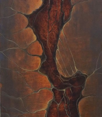 """Opening""100x22cm Oil and egg tempera on board."